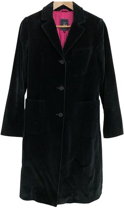 Fay Black Suede Coat for Women Vintage