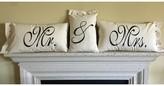 3 Piece Craner Mr. & Mrs. Cotton Pillow Set Winston Porter