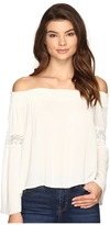 Brigitte Bailey Sula Off the Shoulder Top with Lace Inset Women's Clothing