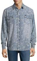 Cult of Individuality Men's Clint Western Cotton Sportshirt