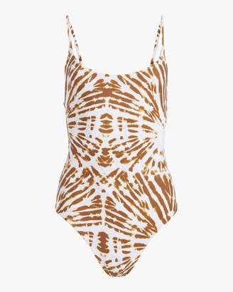 Mikoh Tie Dye Portugal High-Leg One-Piece Swimsuit