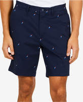 """Nautica Men's Racer Logo Embroidered Classic Fit Stretch 8.5"""" Shorts, Created for Macy's"""