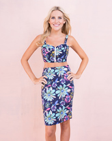 Missy Empire SP Navy Floral Crop Top and Skirt