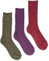 Muk Luks Women's Cable Boot Sock Pack (3 Pair)