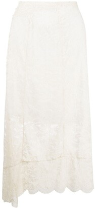 Paco Rabanne Lace Mid-Length Skirt