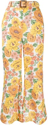 Zimmermann Poppy floral print flared trousers