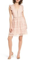 J.o.a. Women's Lace Fit & Flare Dress