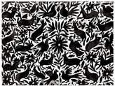 Urban Road Mexican Otomi Canvas Print, Mexican Black 60x90cm