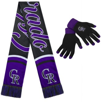 Women's Colorado Rockies Glove and Scarf Set