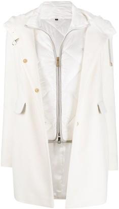 Fay Layered Wool Parka Coat