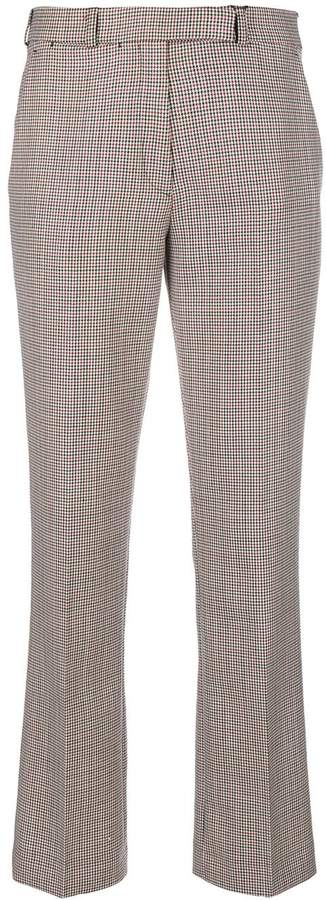 Etro houndstooth straight-leg trousers