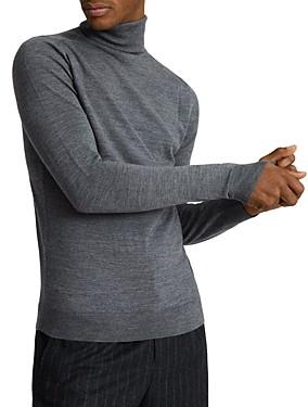 Reiss Caine Merino Wool Turtleneck Sweater