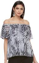 JLO by Jennifer Lopez Petite Off-the-Shoulder Pleated Top