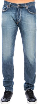 Diesel Tepphar Skinny Stretch Carrot In Used Denim Jeans With 5 Pockets And Micro-breaks