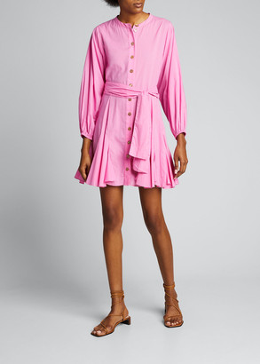 Rhode Resort Emma Dolman-Sleeve Button-Front Dress