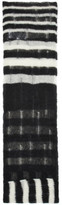 McQ Black and White Striped Mohair Scarf