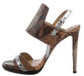 Reed Krakoff Python Slingback Sandals