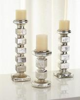 Block Pillar Candleholders, 3-Piece Set