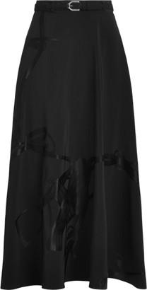 Ralph Lauren Erica Buckled Jacquard A-Line Skirt