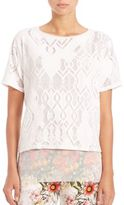 Fuzzi Lace Short-Sleeve Top