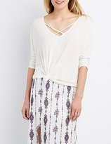 Charlotte Russe Strappy Bar-Back Dolman Tee