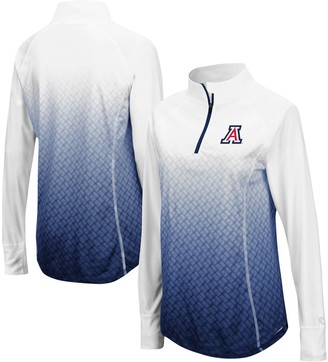 Colosseum Women's Navy Arizona Wildcats Magic Ombre Quarter-Zip Raglan Jacket