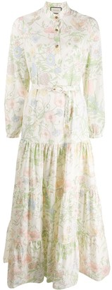 Gucci Floral Print Maxi Dress