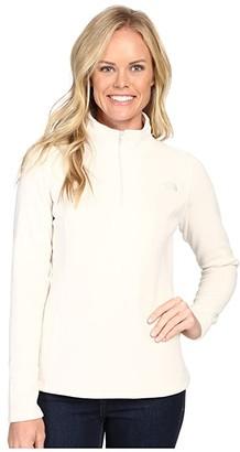 The North Face Glacier 1/4 Zip Fleece Top (Vintage White (Prior Season)) Women's Fleece