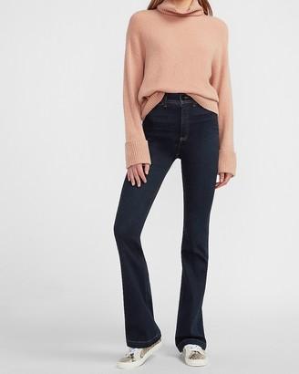 Express Super High Waisted Dark Wash Bootcut Jeans