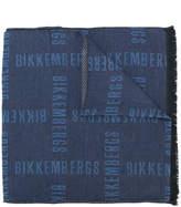 Dirk Bikkembergs slogan print scarf