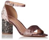 George Velvet Glitter Heel Sandals