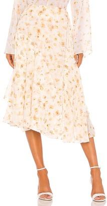 Vince Pressed Petal Panel Skirt