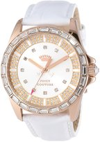Juicy Couture Women's 1901060 Stella White Embossed Leather Strap Watch