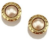 Chanel Pre-owned: Faux Pearl Gold-tone Clip-on Earrings.
