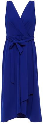DKNY Wrap-effect Belted Stretch-crepe Midi Dress