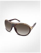Swarovski Crystal Pave Frame Signature Sunglasses