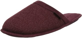 Isotoner Men's Wool Fabric Mule Slippers Open Back