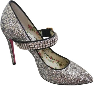 Gucci \N Silver Rubber Heels