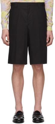 Prada Black Poplin Shorts