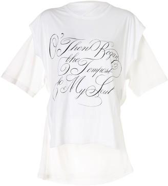 Ann Demeulemeester script slogan print T-shirt