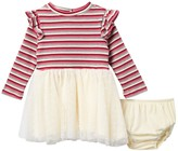 Jessica Simpson Ruffle Striped Ribbed & Tutu Dress (Baby Girls)