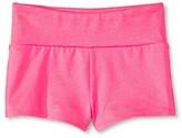 Circo Girls' Gymnastics Solid Shimmer Shorts Pink