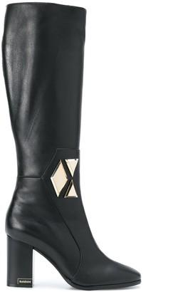 Baldinini Geometric Detail Knee Boots