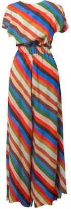 Tomcsanyi Dabas Stripes Print Short Sleeve Jumpsuit