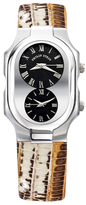 Philip Stein Teslar Stainless Steel Dual Time Zone Watch, 50mm x 32mm