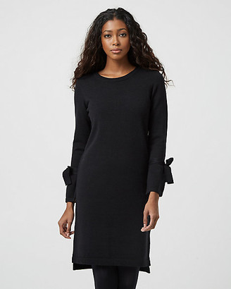 Le Château Tie Sleeve Sweater Dress