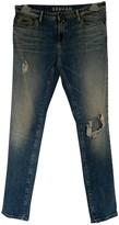 Denham Jeans Blue Cotton - elasthane Jeans for Women