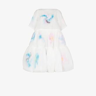 Susan Fang A-line printed tiered midi dress