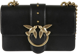 Pinko Bird Ring Chain Strap Shoulder Bag