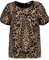 Joie Janpath Metallic Embroidered Gauze Top